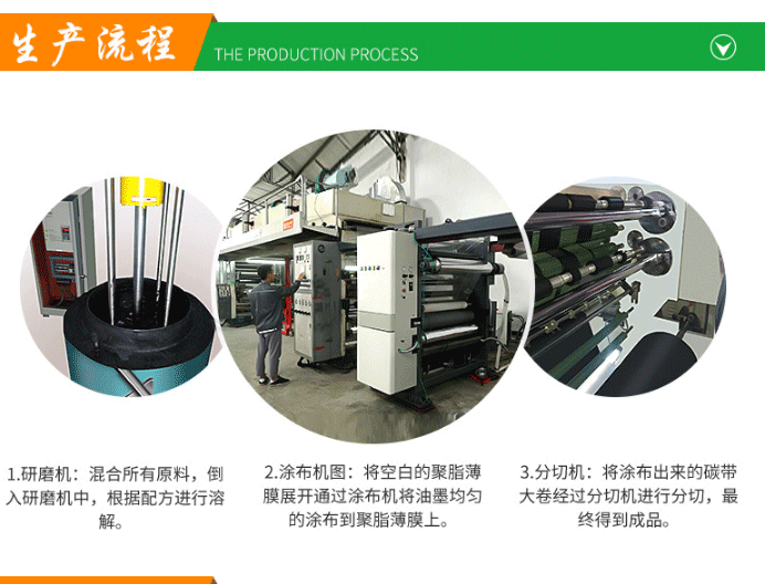 双轴大轴芯蜡基碳带生产流程